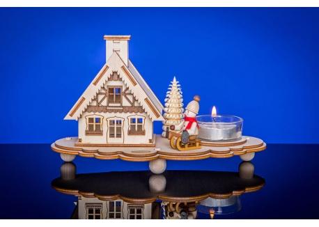 Räucherhaus Skihütte mit Teelicht